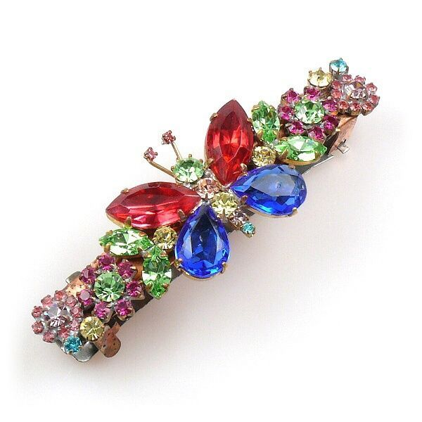 Butterfly French Hairclasp RED