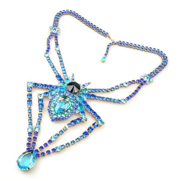 Spider Necklace BLUE