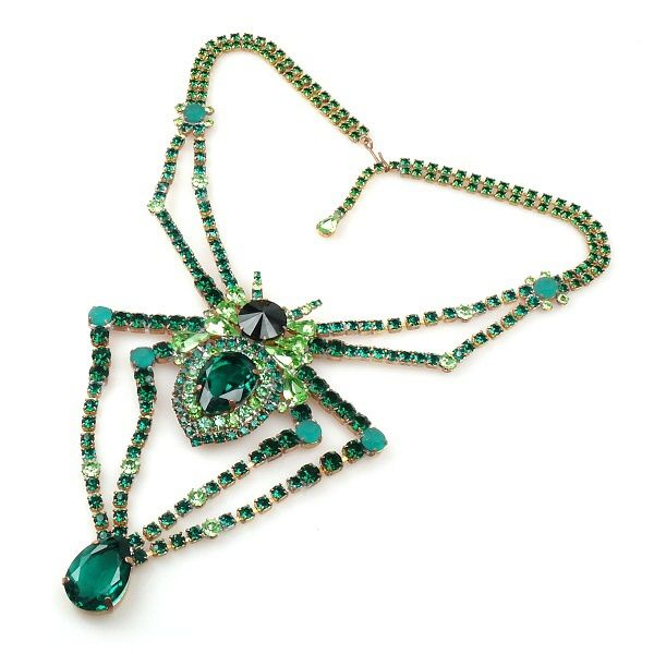 Spider Necklace GREEN