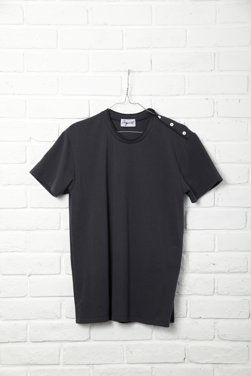 Side Henley / CHARCOAL