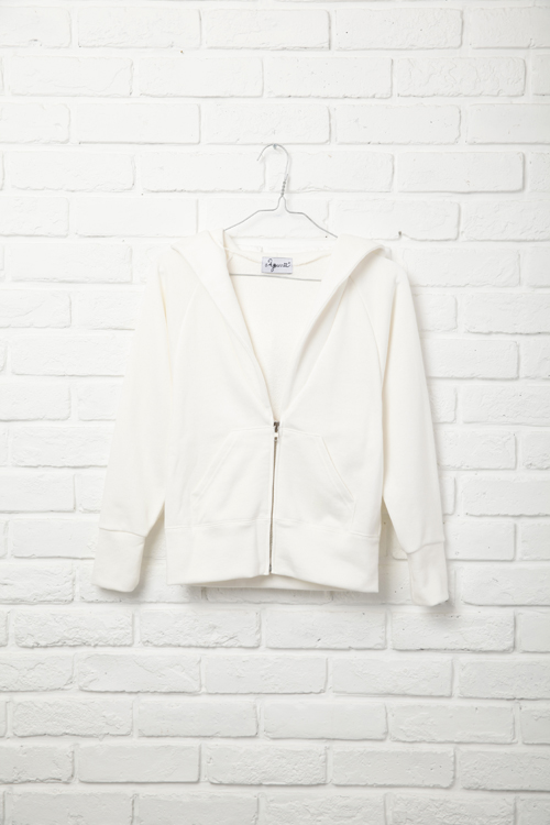 Little Zip Up Parker / WHITE