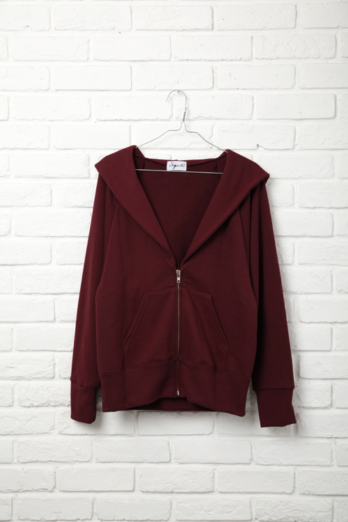 Little Zip Up Parker / WINE