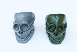 skull part ring new color